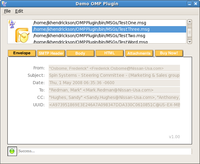how to open msg file linux